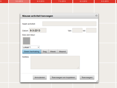 Lokalenbeheer Web application in PHP